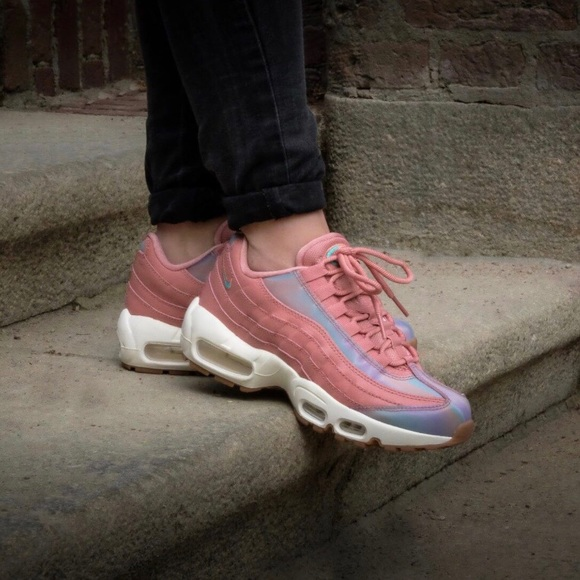 ❤️New❤ NIKE red stardust Air Max 95 SE ~ 8